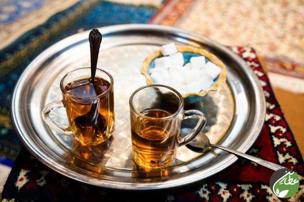 دمنوش چای سفید و زعفران 100 گرمی عطارین