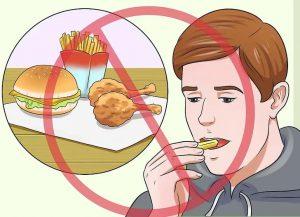از مصرف غذای چرب خودداری کنید
