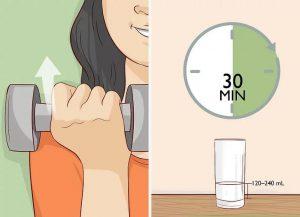 قبل از تمرین شیر بنوشید
