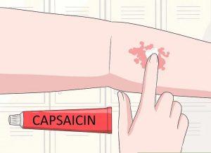 تسکین علائم با کرم کپسایسین