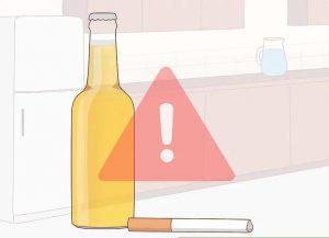 مصرف سیگار و الکل را قطع کنید