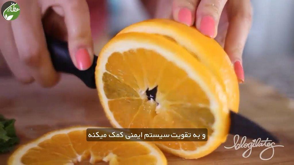 طرز تهیه دتاکس واتر چربی سوز پرتقال