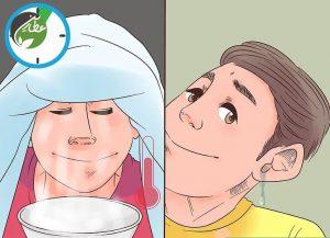 با بخار آب، مایع گوش را رقیق کنید