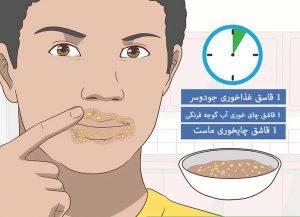 درمان لکه های اطراف دهان با جودوسر