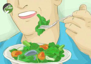 سبزیجات و میوه به میزان کافی بخورید
