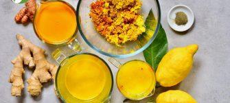 ضدعفونی بدن با یک نوشیدنی لیمو، زردچوبه و زنجبیل