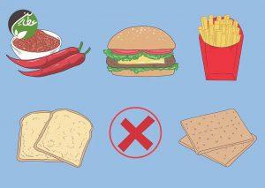 مصرف غذاهای مضر را محدود کنید
