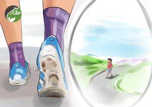 کاهش تنش با پیاده روی