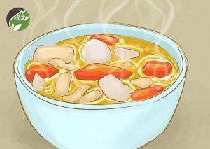 غذاهای حاوی مایعات بخورید