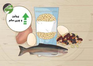 مصرف پروتئین و چربی های سالم