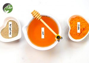 مواد لازم در تهیه خمیر زردچوبه عسل