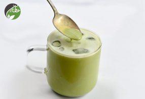 طرز تهیه چای سبز سرد با شیر