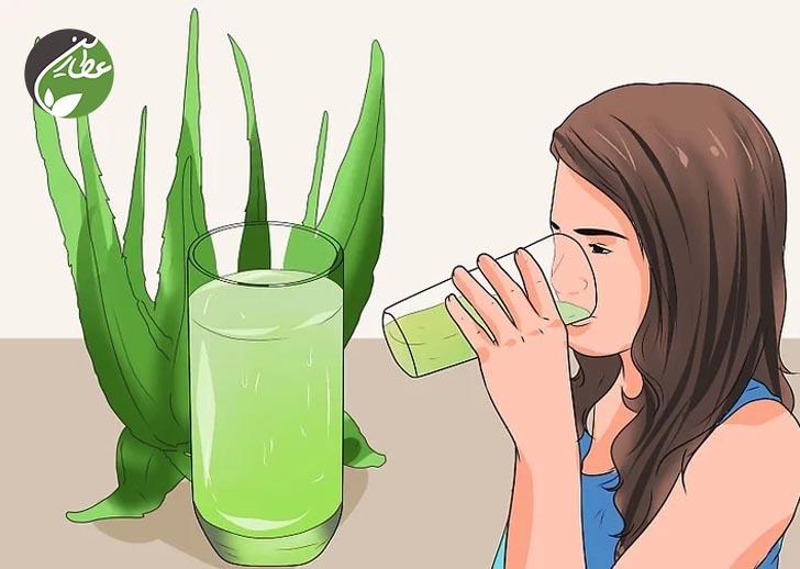 آب آلوئه ورا بنوشید.
