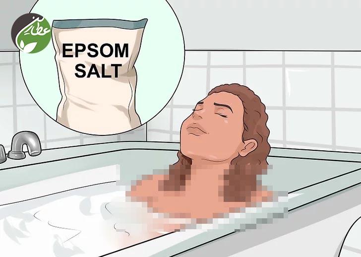 آب گرم و نمک جهت درمان گرفتگی عضلات پا